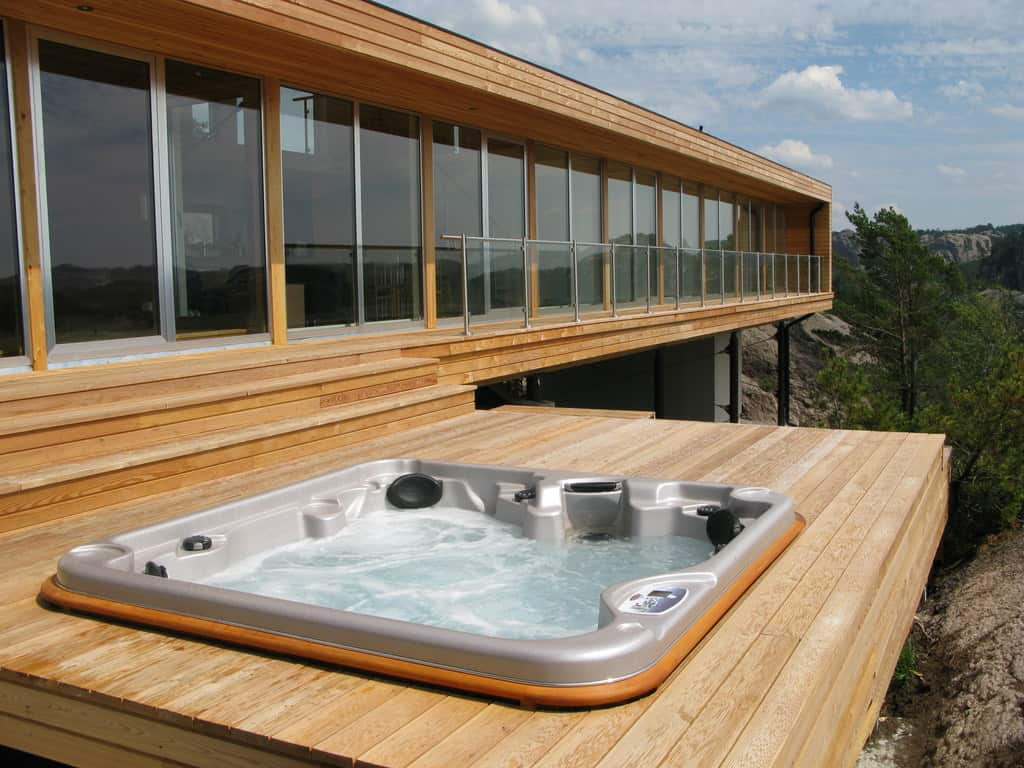 The Yukon, our most popular mid-sized model, is shown here recessed into a nice deck.